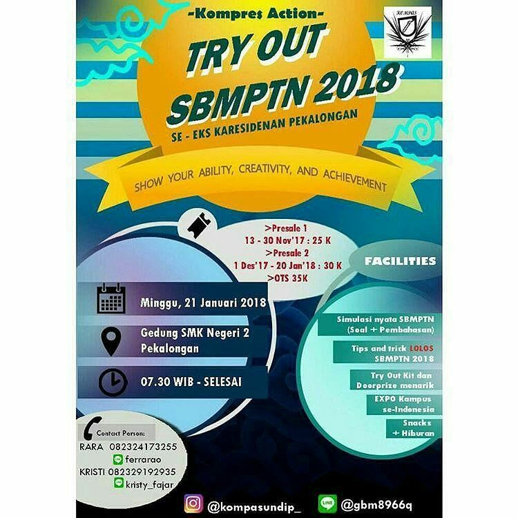 TRY OUT SBMPTN 2018 SE-EKS KARESIDENAN PEKALONGAN